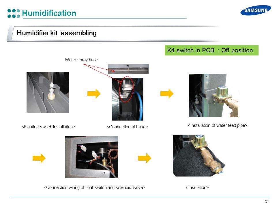 Humidification Humidifier kit assembling