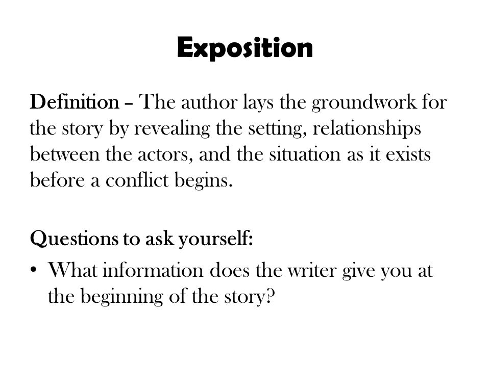 Captivating Exposition