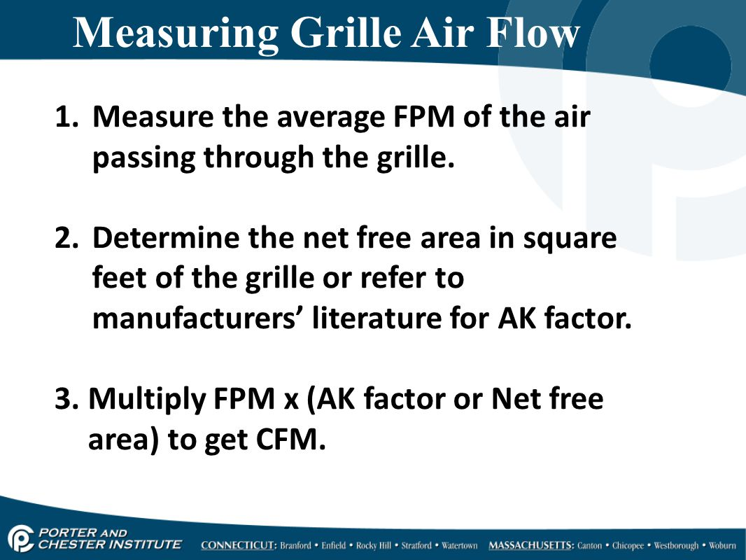 Measuring Grille Air Flow