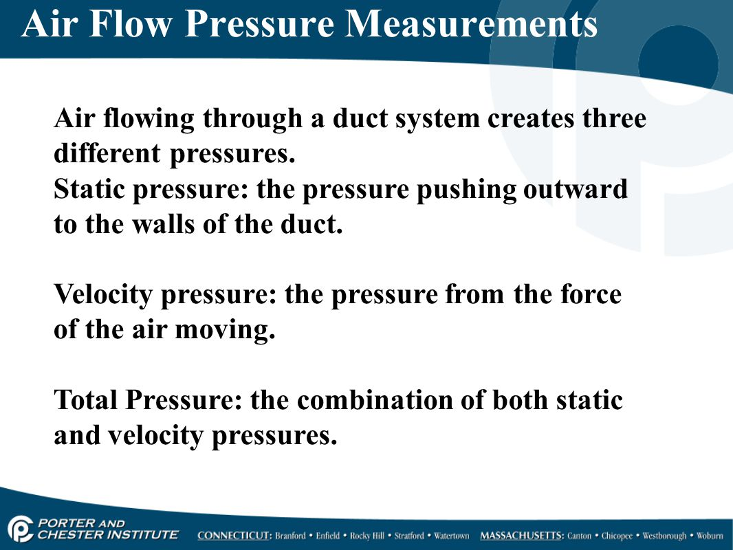 Air Flow Pressure Measurements