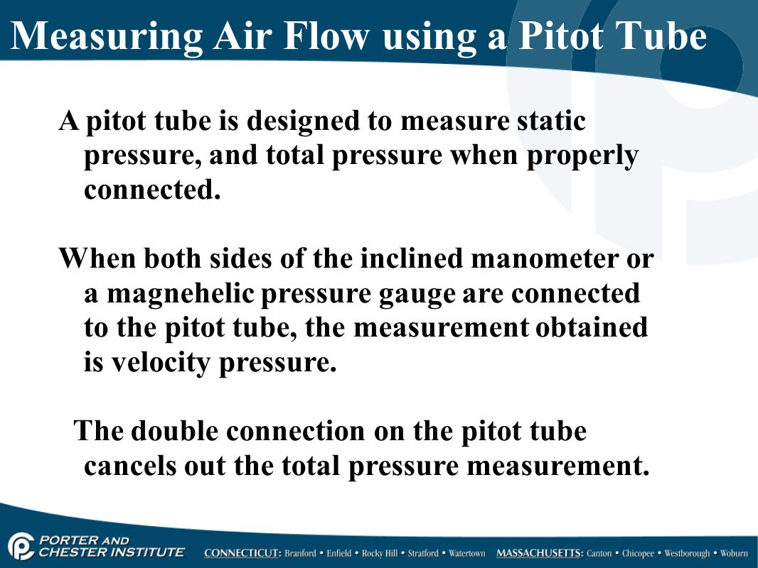 Measuring Air Flow using a Pitot Tube