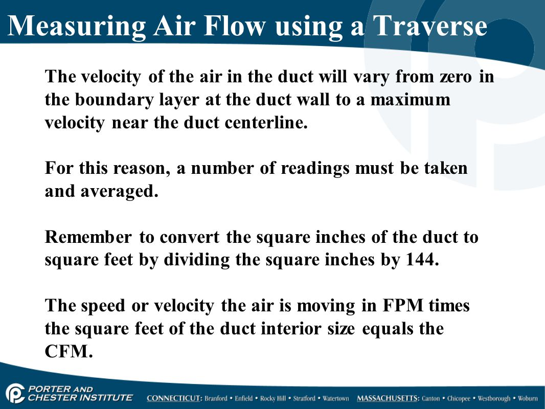 Measuring Air Flow using a Traverse