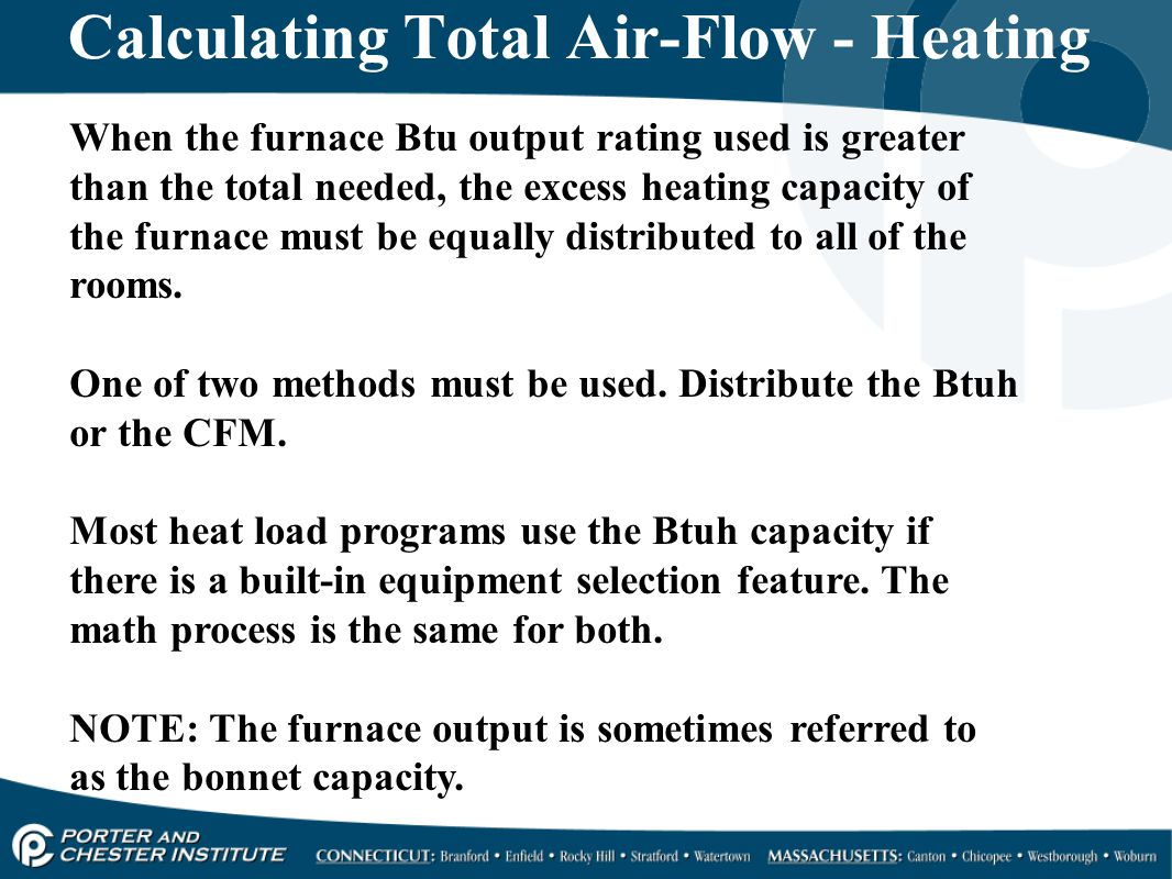 Calculating Total Air-Flow - Heating