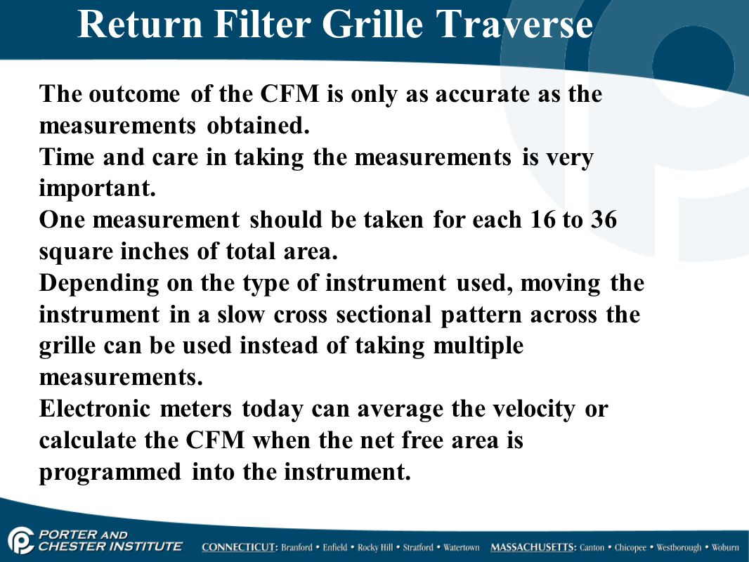 Return Filter Grille Traverse
