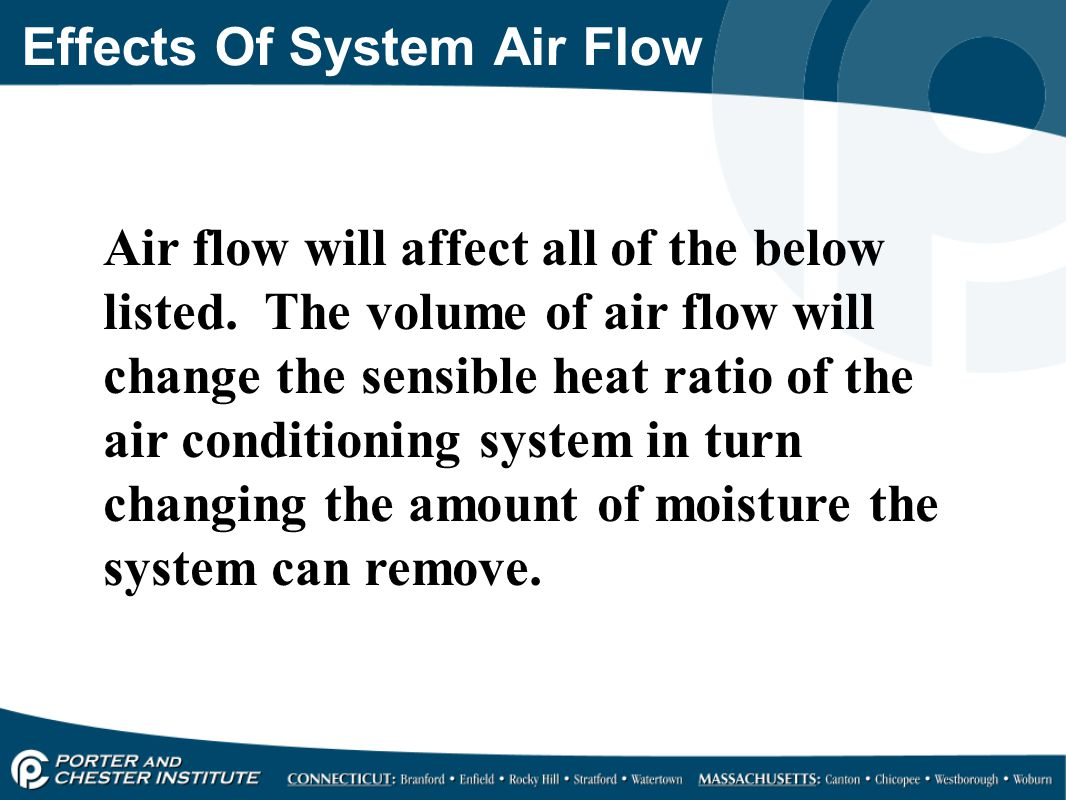 Effects Of System Air Flow