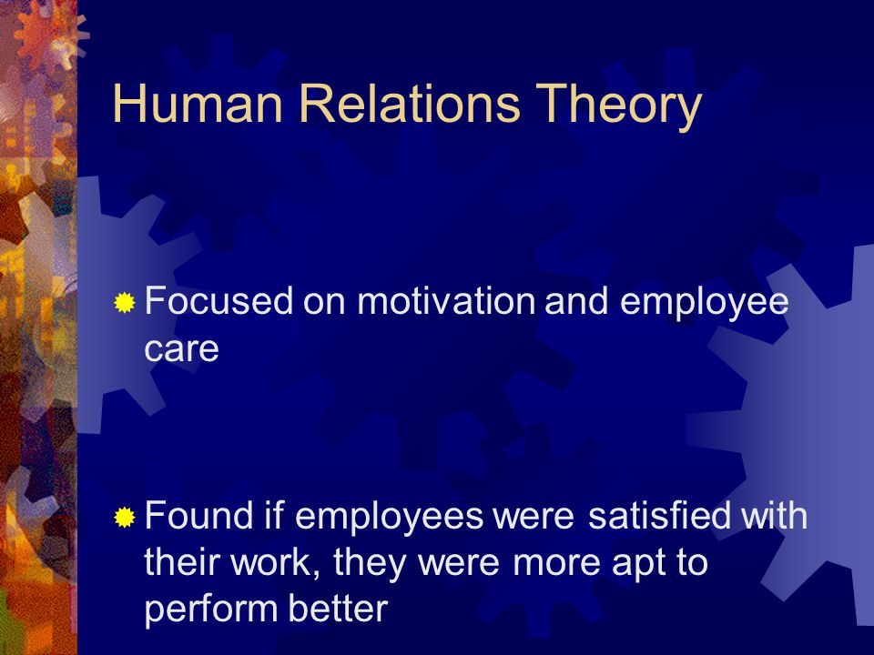 Human Relations Theory