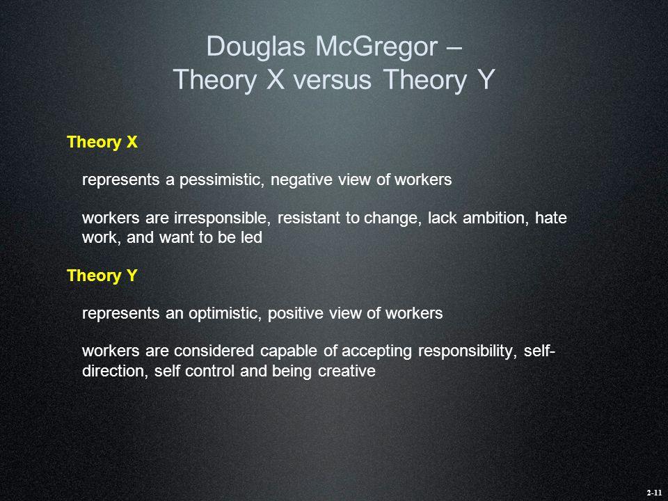 Douglas McGregor – Theory X versus Theory Y