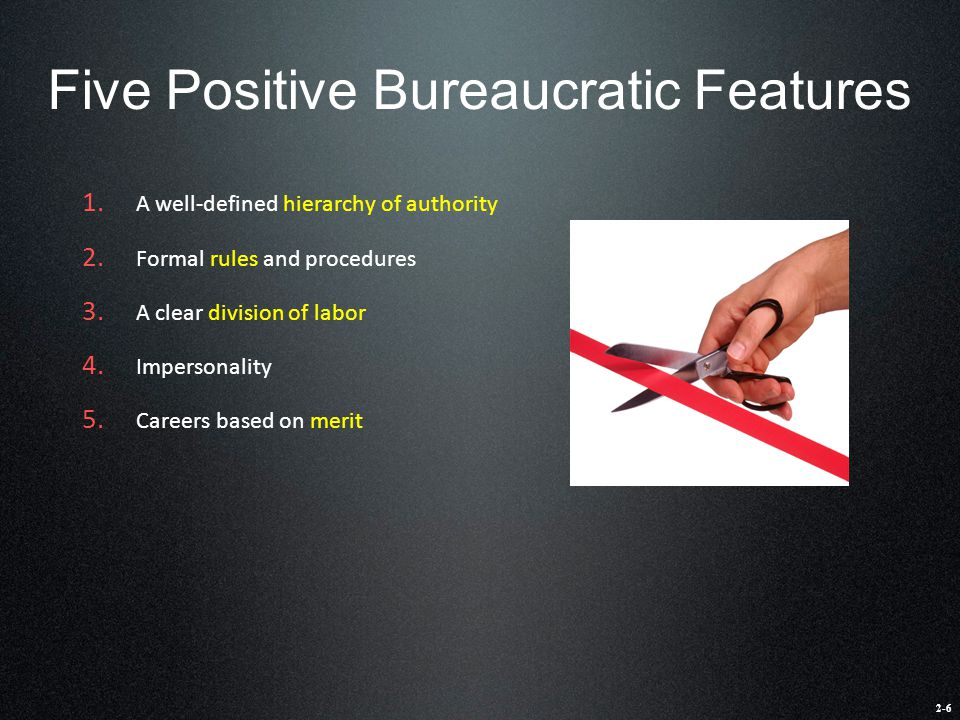 Five Positive Bureaucratic Features