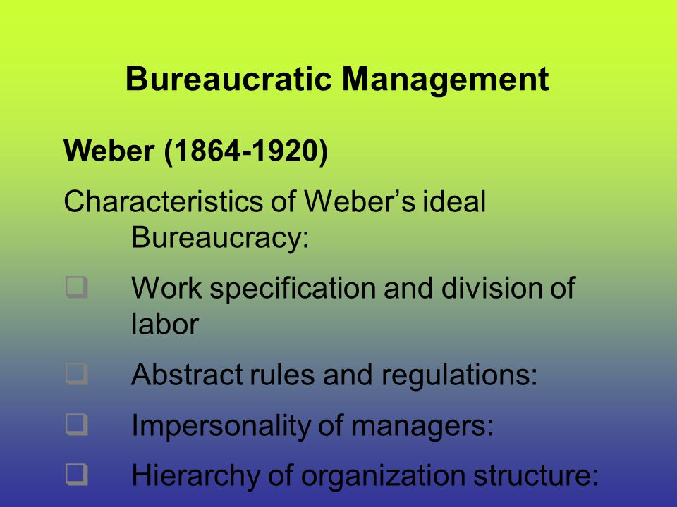 Bureaucratic Management