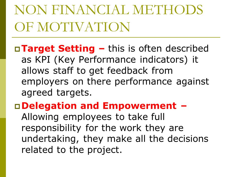 COMPARING THE IMPACT OF FINANCIAL AND NON-FINANCIAL REWARDS TOWARDS ORGANIZATIONAL MOTIVATION