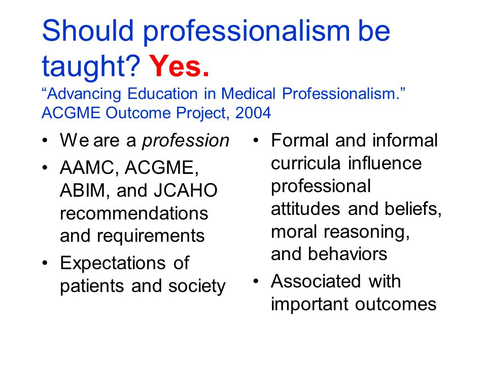 professionalism education in scotland and patients Bs_bs_banner professionalism in iranian nursing: concept analysis  the patients (laibhen-parkes  nine factors of professionalism: education in an aca.