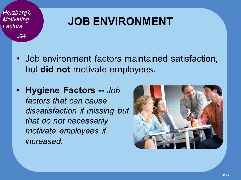 motivation in work environment