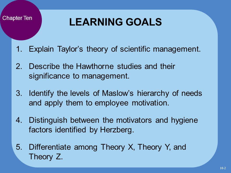applying scientific management theory to education Scientific method in education integrated scientific method describes what scientists do,  , made by applying a general domain-theory to a specific experimental system that has been characterized by a system-theory), a thought experiment can be done by asking, if this model is true, then what will occur.