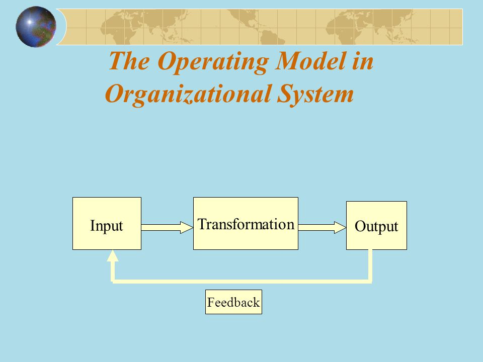 The Operating Model in Organizational System