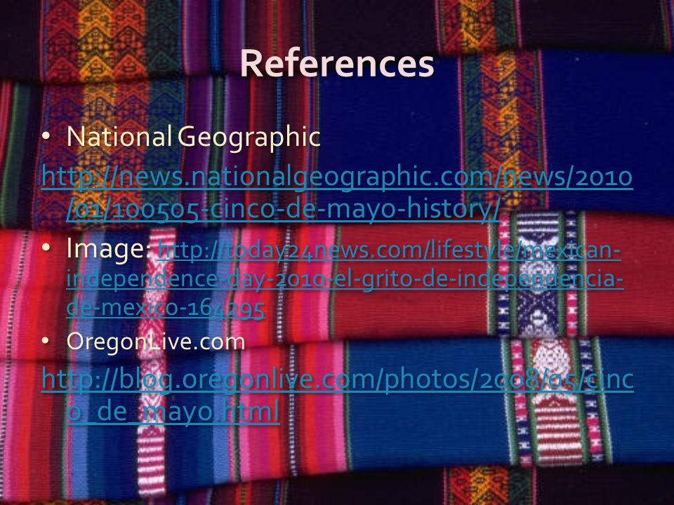References National Geographic