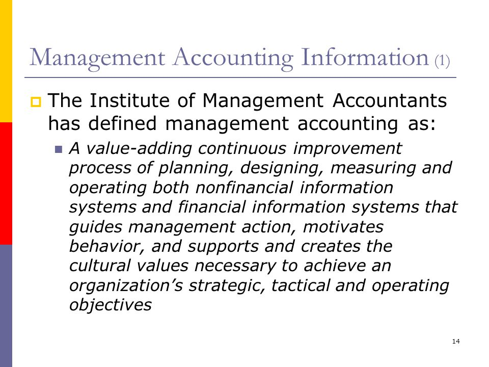 Modern Management Accounting Techniques