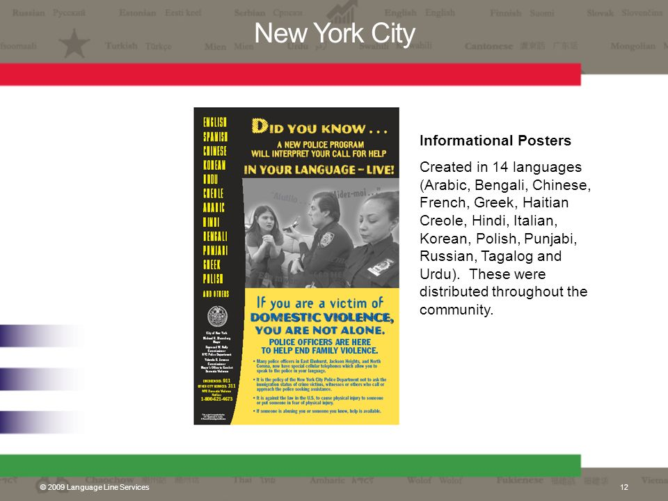 New York City Informational Posters
