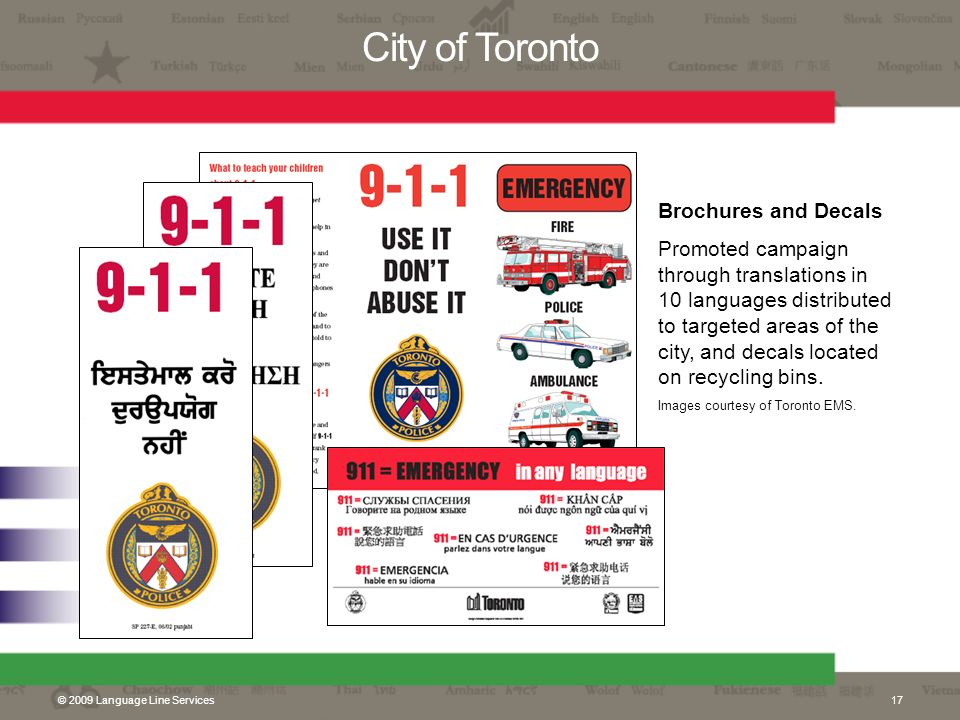 City of Toronto Brochures and Decals