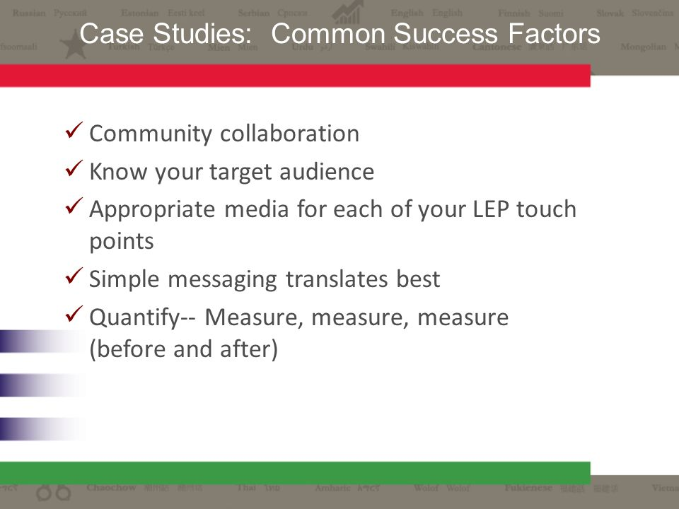 Case Studies: Common Success Factors
