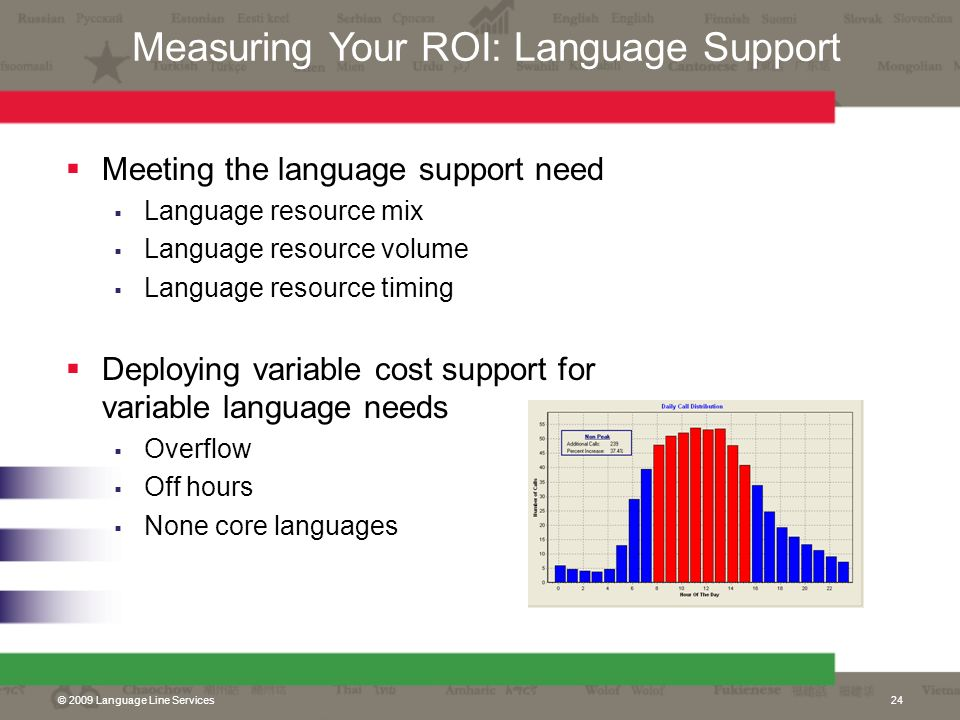 Measuring Your ROI: Language Support