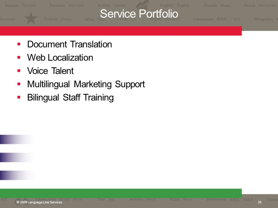 Service Portfolio Document Translation Web Localization Voice Talent