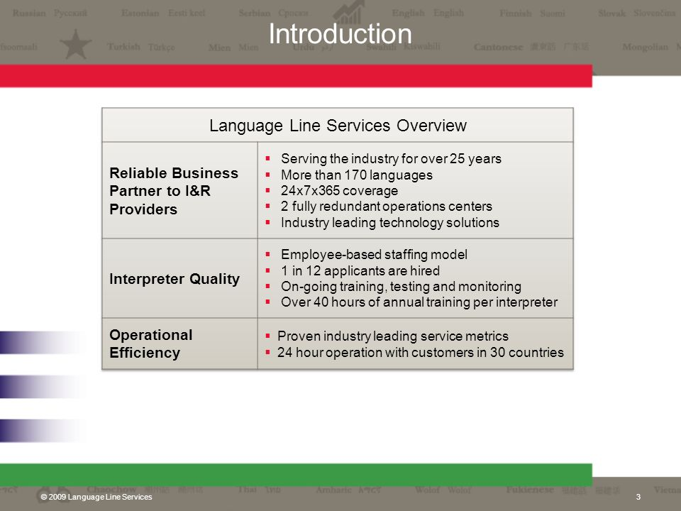 Language Line Services Overview
