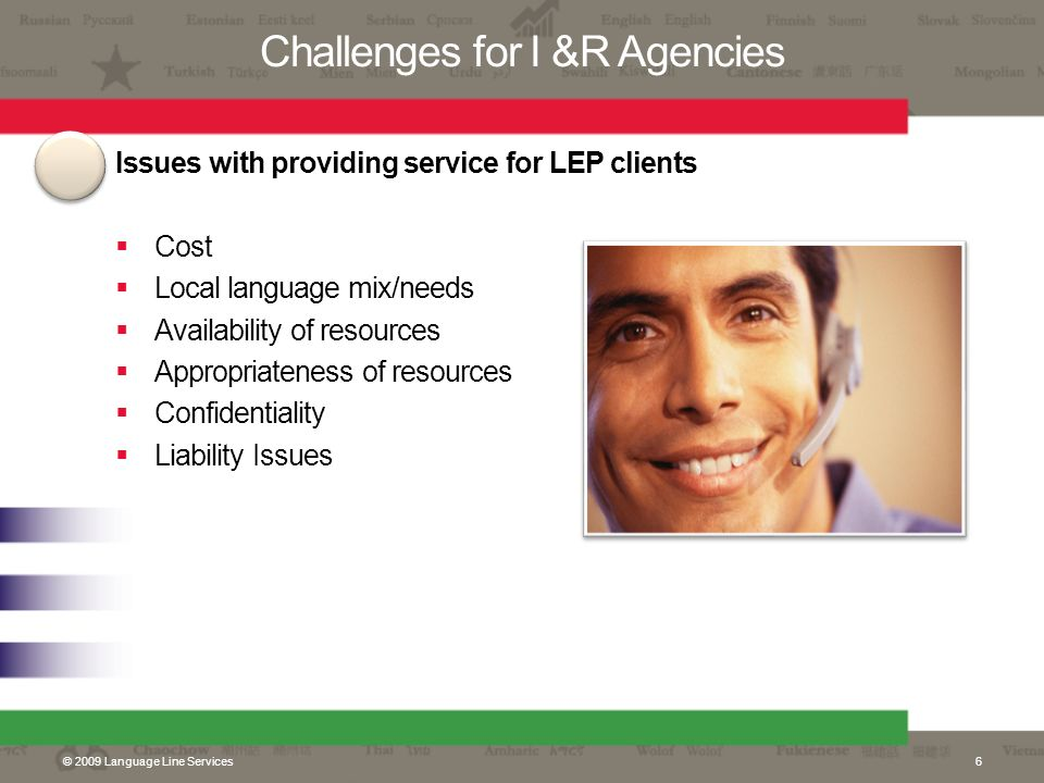 Challenges for I &R Agencies