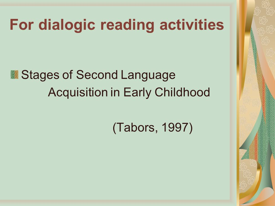 second language acquisition in early childhood pdf