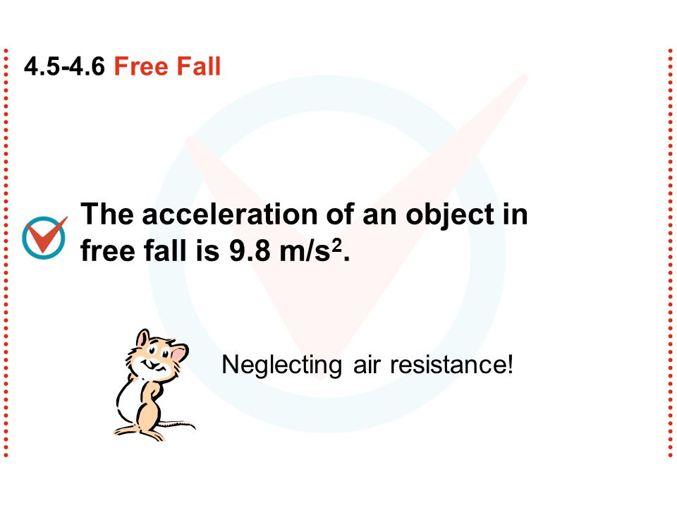 free falling objects A free falling object is an object that is falling under the sole influence of gravity any object that is being acted upon only by the force of gravity is said to be in a state of free.