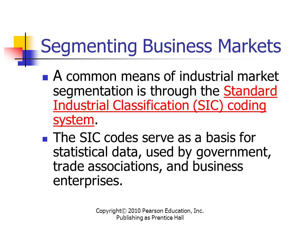 Segmenting Business Markets