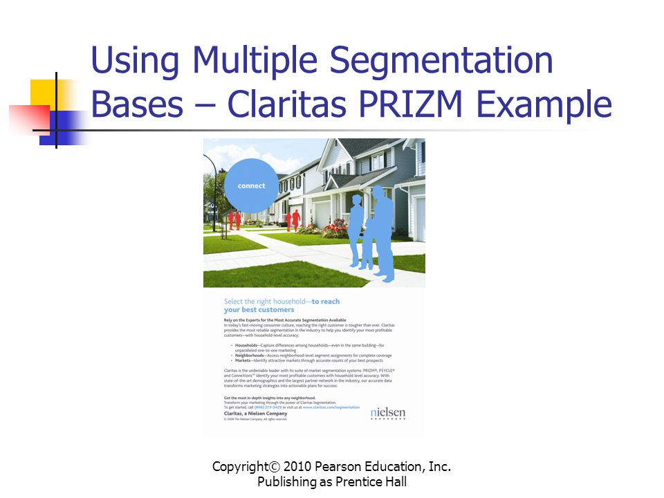 Using Multiple Segmentation Bases – Claritas PRIZM Example