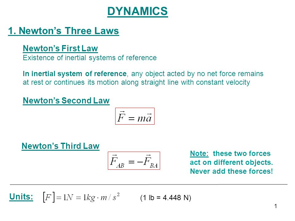 Dynamics 1 Newton's Three Laws First Law Second. Newton's Three Laws First Law Second. Worksheet. Worksheet Newton S Second Law Chapter 6 Newton S Second Law At Mspartners.co