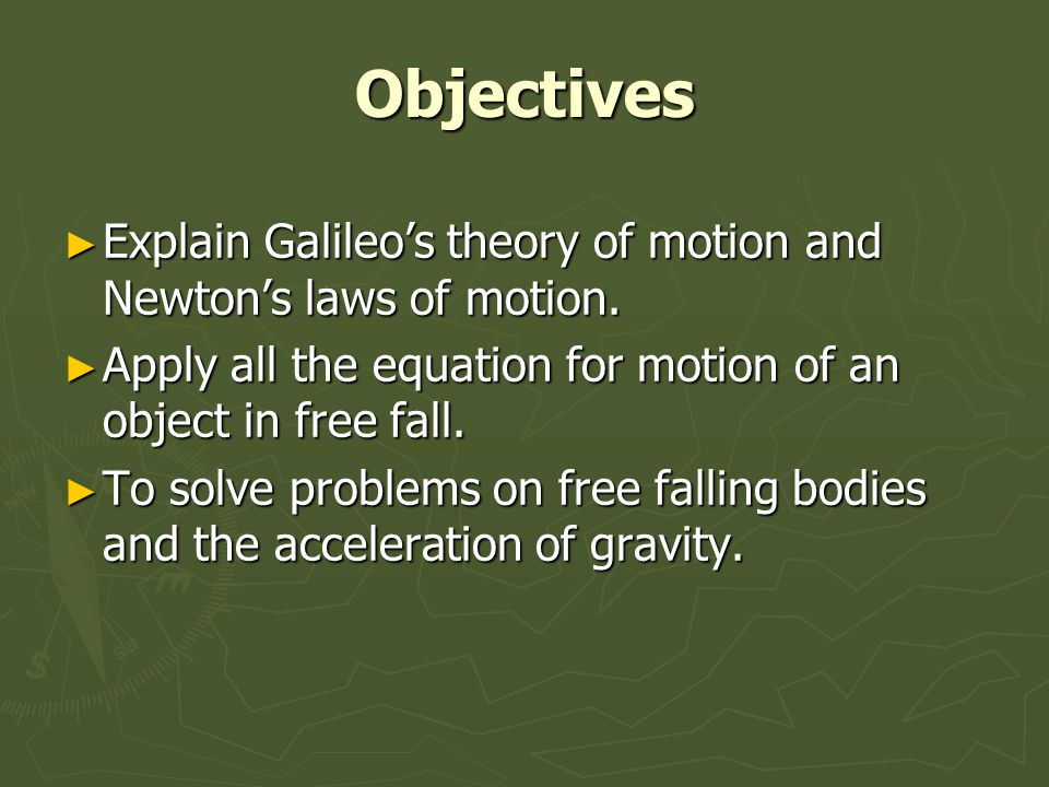 problem solving and free falling object Problem set 2: 10 questions math problem solving and data analysis 1 a ball is attached to a pole by a string the distance traveled by a free-falling object a.