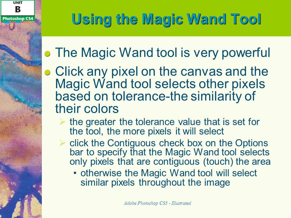 Using the Magic Wand Tool