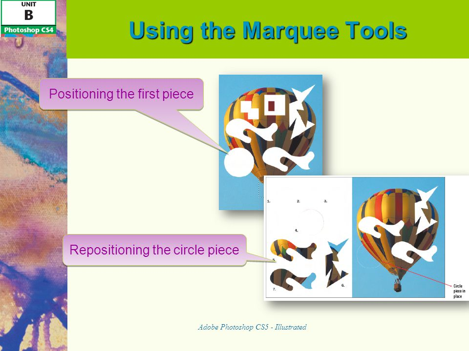 Using the Marquee Tools