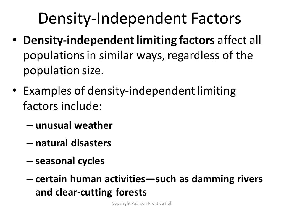List Of Synonyms And Antonyms Of The Word Density Independent Animals