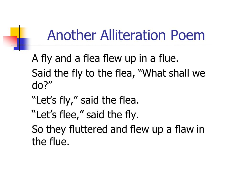 Learning about the use and special features of poetry for Alliteration poem template