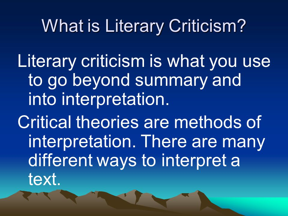 an analysis of different literary texts Identifying the difference between informational and literary texts  identifying the difference between informational and literary  texts based on their different.