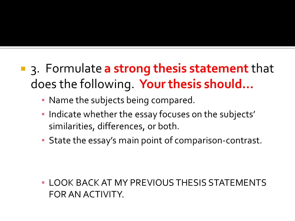 compare and contrast literature thesis Discover compare and contrast essay topics ideas compare and contrast literature topics the thesis statement usually goes in the first paragraph.