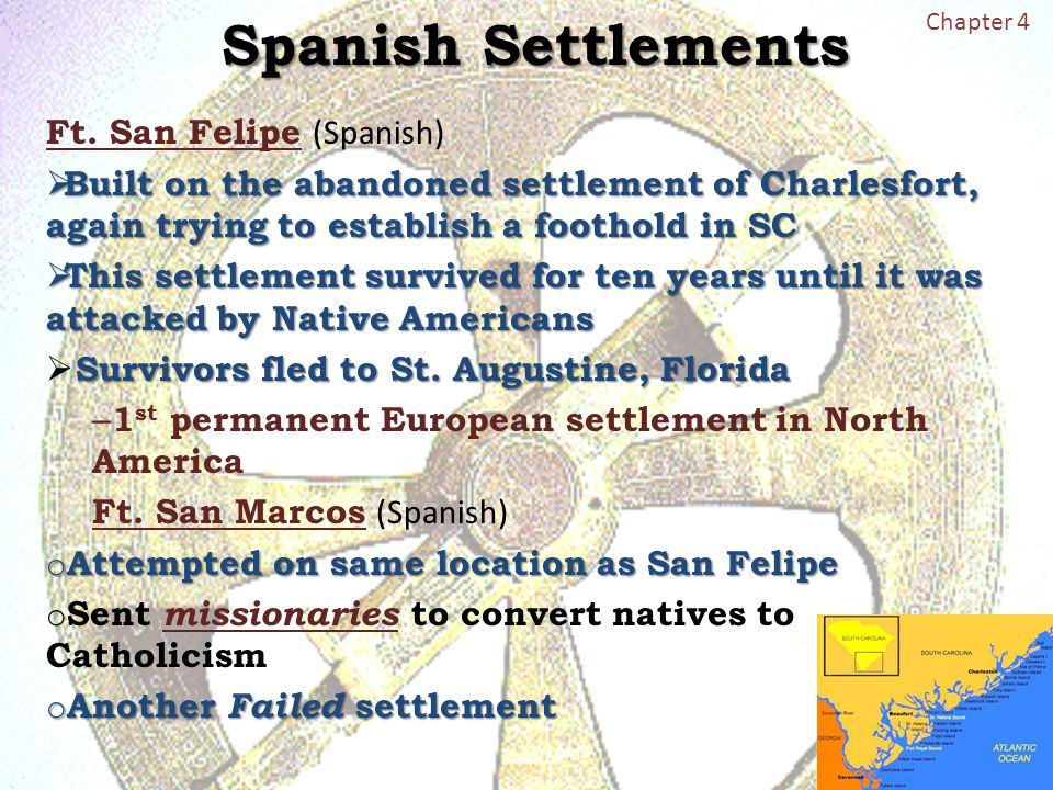 spanish and english settlement of america Sections the european exploration of north america the colonization of north  america a comparison of english and spanish colonies.