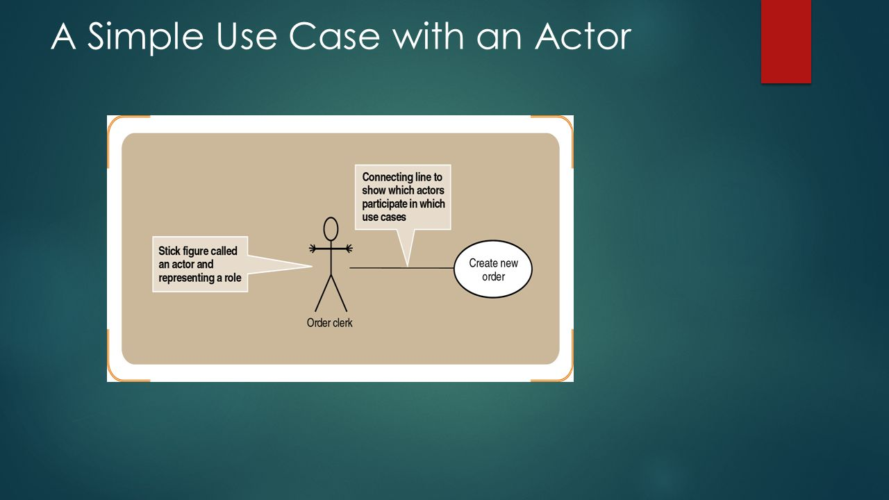 A Simple Use Case with an Actor