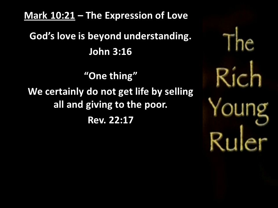 Mark 10:21 – The Expression of Love