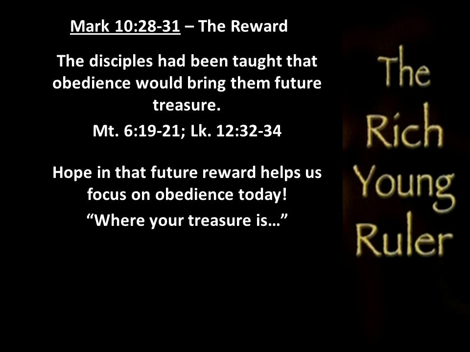 Hope in that future reward helps us focus on obedience today!