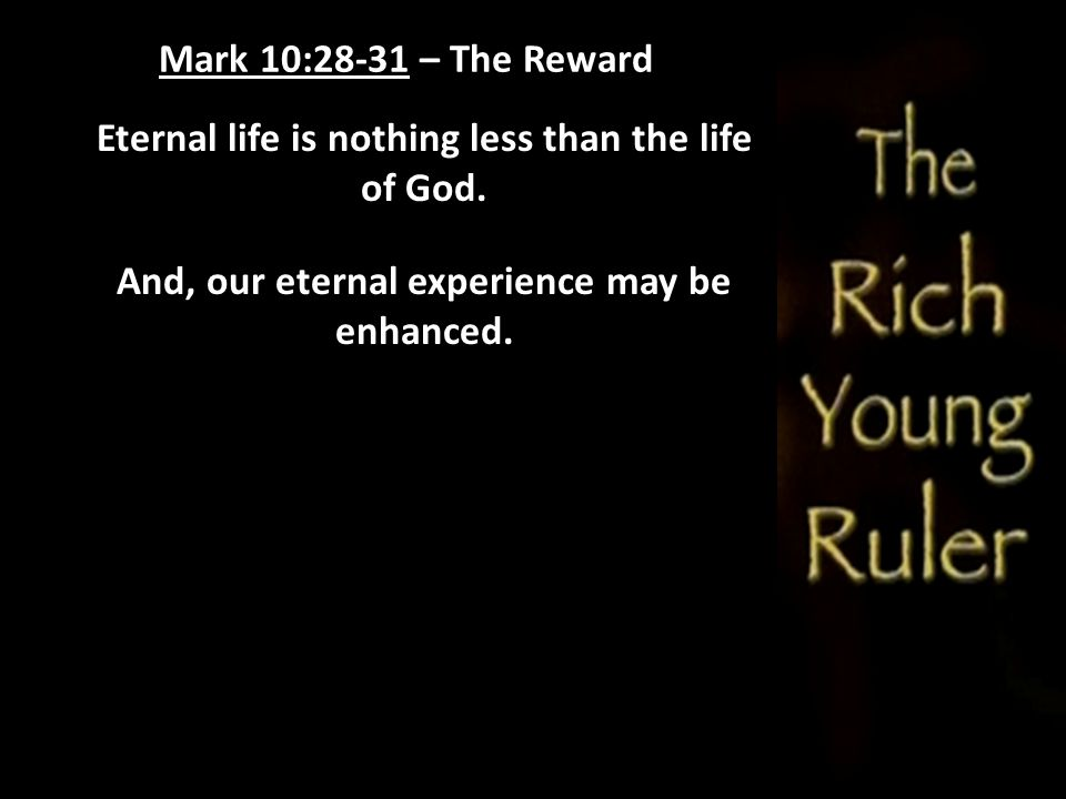 Eternal life is nothing less than the life of God.
