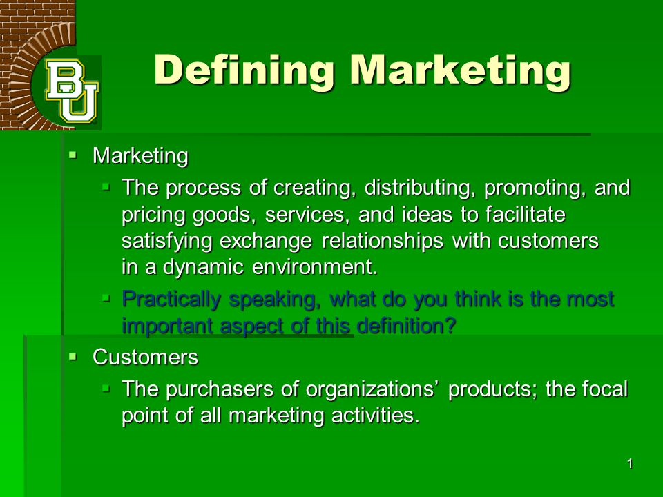 define marketing aspect The more narrowly you can define the person -- remember you are talking to a person, not a company -- who will benefit from your service, the better results you will get  marketing campaign .