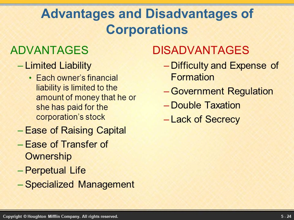 advantages and disadvantages of incorporation of companies Private limited company advantages and disadvantages:  disadvantages of private limited company :  certificate of incorporation, company pan, aoa, moa.