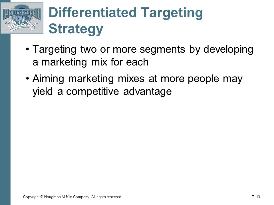 Differentiated Targeting Strategy