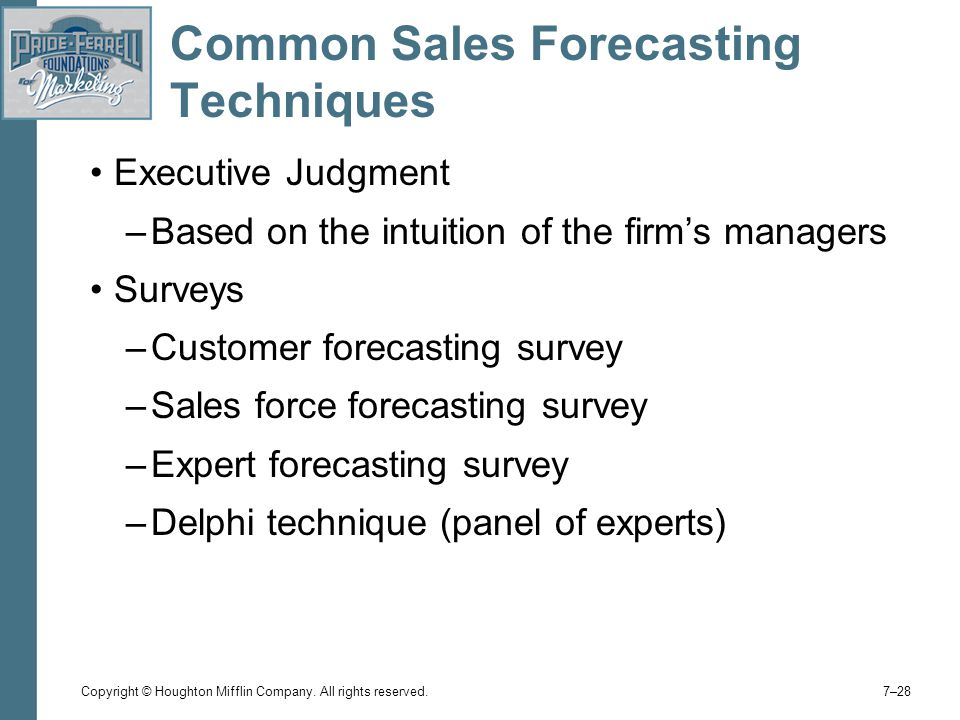 Common Sales Forecasting Techniques