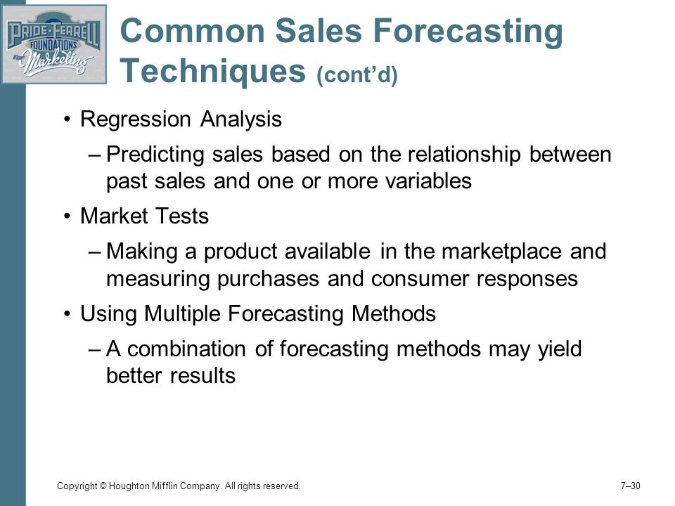 Comparing and Contrasting Forecasting Methods