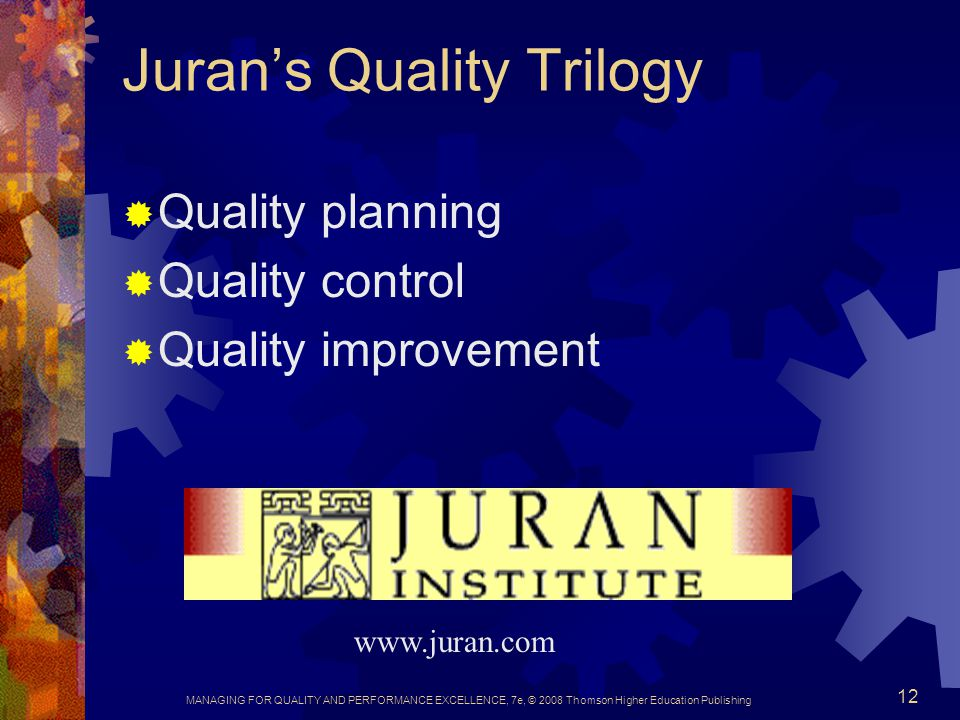 Juran's Quality Trilogy